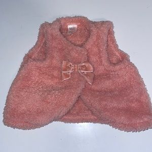 Carter's Fluffy Vest with Bow